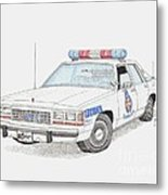 Baltimore County Police Car Metal Print by Calvert Koerber
