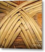 Bamboo And Wood Construction Metal Print