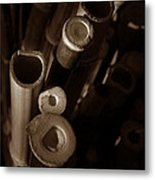 Bamboo Poles 2 Metal Print