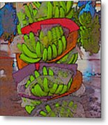 Banana Harvest Metal Print