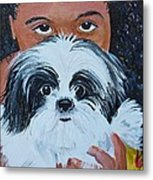 Bandit And Me Metal Print by Peggy Patti