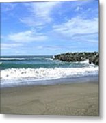 Bandon South Jetty Metal Print