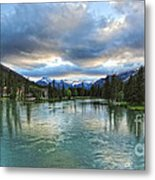 Banff And The Bow River - 01 Metal Print