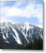 Banff Ski Runs Metal Print by Wayne Bonney