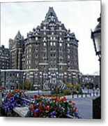 Banff Springs Hotel In The Canadian Rocky Mountains Metal Print