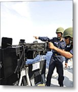Bangladesh Navy Sailors Fire Metal Print