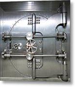 Bank Vault Door Exterior Metal Print by Adam Crowley