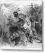 Banknote: Native American Attack Metal Print