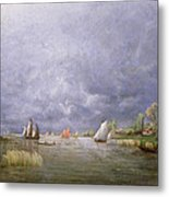 Banks Of The Loire In Spring Metal Print
