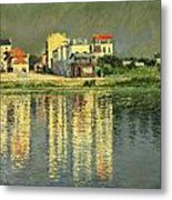 Banks Of The Seine At Argenteuil Metal Print