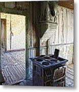 Bannack Ghost Town Kitchen Stove 2 Metal Print