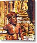 Banteay Srei Statue Metal Print