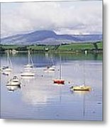 Bantry Bay, County Cork, Ireland Boats Metal Print
