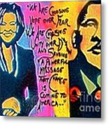 Barack And Michelle Metal Print by Tony B Conscious