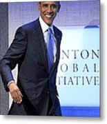 Barack Obama In Attendance For Annual Metal Print