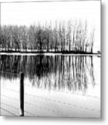 Barbed Water Metal Print