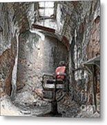 Barber - Chair - Eastern State Penitentiary Metal Print