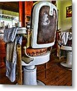 Barber - Barber Chair Metal Print