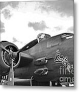 Barbie I I I In Black And White Metal Print
