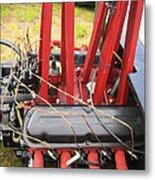 Barbwire Engine Metal Print