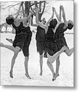 Barefoot Dance In The Snow Metal Print