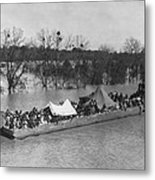 Barge Loaded With Poor African American Metal Print