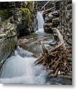 Baring Creek Waterfall And Rapids Metal Print