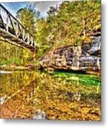 Barkshed Creek Bridge Metal Print