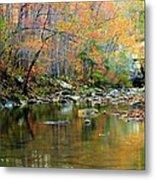 Barkshed Creek Toned Metal Print