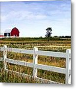 Barn And Fence Metal Print