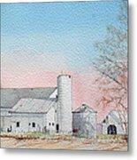 Barn And Sycamore Metal Print