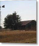 Barn And Windmill Metal Print