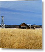 Barn And Windmill Stand Metal Print