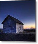 Barn At Sunset, Fort Saskatchewan Metal Print