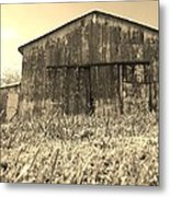 Barn In Brown Metal Print