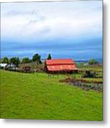 Barn In Livermore Metal Print