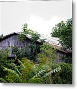 Barn In The Storm Metal Print
