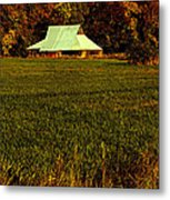 Barn In The Style Of The 60s Metal Print