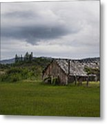 Barn Near Shady Cove Metal Print