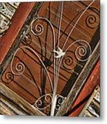 Barn Swallow Gracing Historial Train Station Door Metal Print