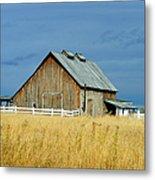 Barn With Stormy Skies Metal Print