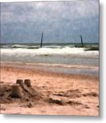 Barnacle Bill's And The Sandcastle Metal Print