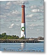 Barnegat Lighthouse - New Jersey - Christmas Card Metal Print