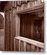 Barns Grand Tetons Metal Print