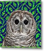 Barred Owl In A Fractal Tree Metal Print