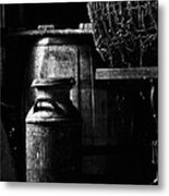 Barrel In The Barn Metal Print