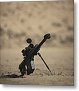 Barrett M82a1 Rifle Sits Ready Metal Print