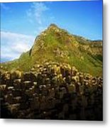 Basalt Rock Formations Near A Mountain Metal Print