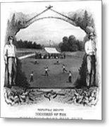 Baseball, 1861 Metal Print