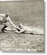 Baseball Game, C1887 Metal Print